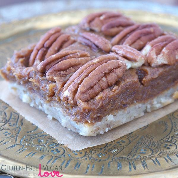 Gluten-Free Vegan Pecan Pie Bars {Paleo & Refined Sugar-Free}
